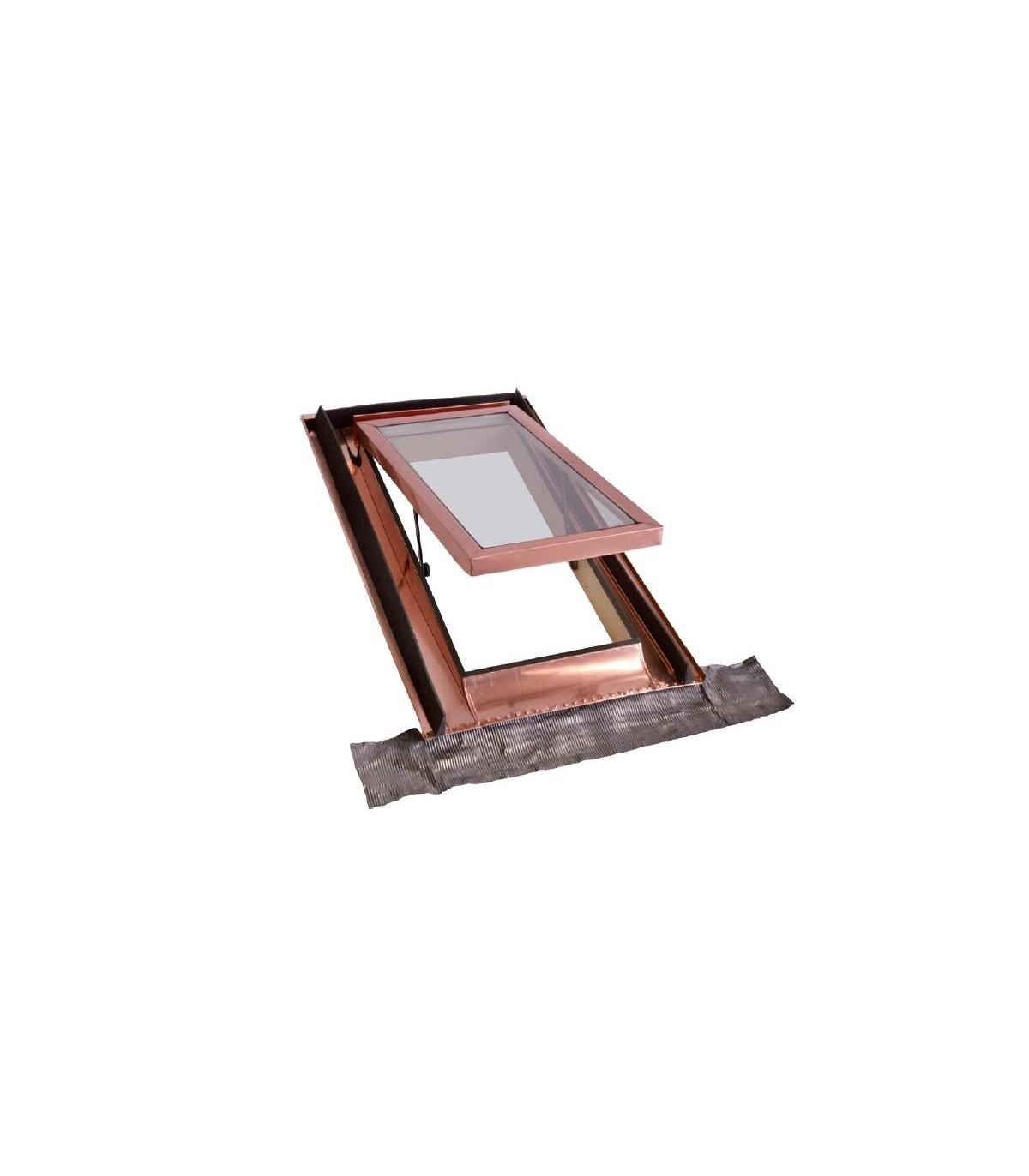 Rosso Mattone Lucernario per mansarda monoblocco 45x55