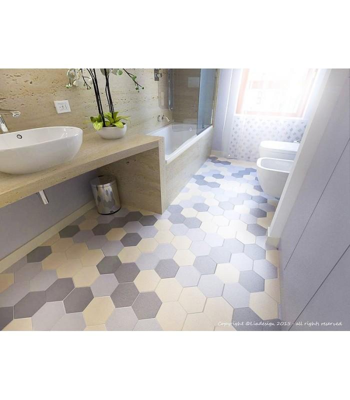 Piastrella esagonale tonalite in gres porcellanato compra online - Piastrelle esagonali gres porcellanato ...
