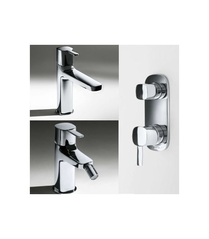 set rubinetti bagno fantini serie lame lavabo bidet d0ccia vasca