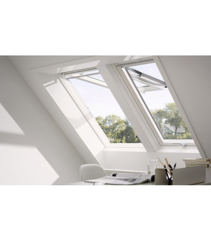 Velux gpu finestra vasistas bilico manuale bianca for Finestre velux istruzioni telecomando