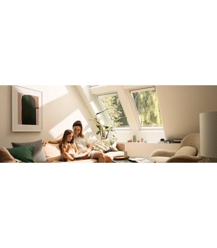 Finestra velux ggl manuale in legno bianca compra online for Finestre a tetto velux prezzi