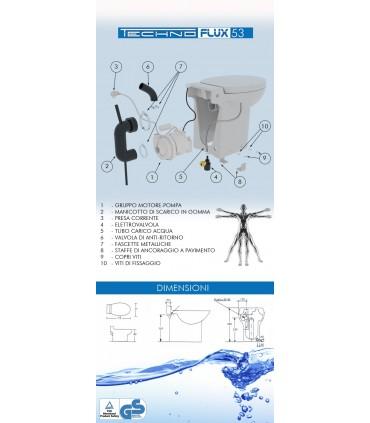 TECHNO FLUX WC TRITURATORE INCORPORATO TECHNO SOLUTION