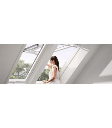 Velux GPU finestra manuale vasistas bilico con finitura bianca
